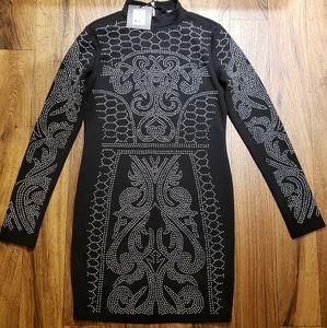 Black Beaded Dress  Size Medium